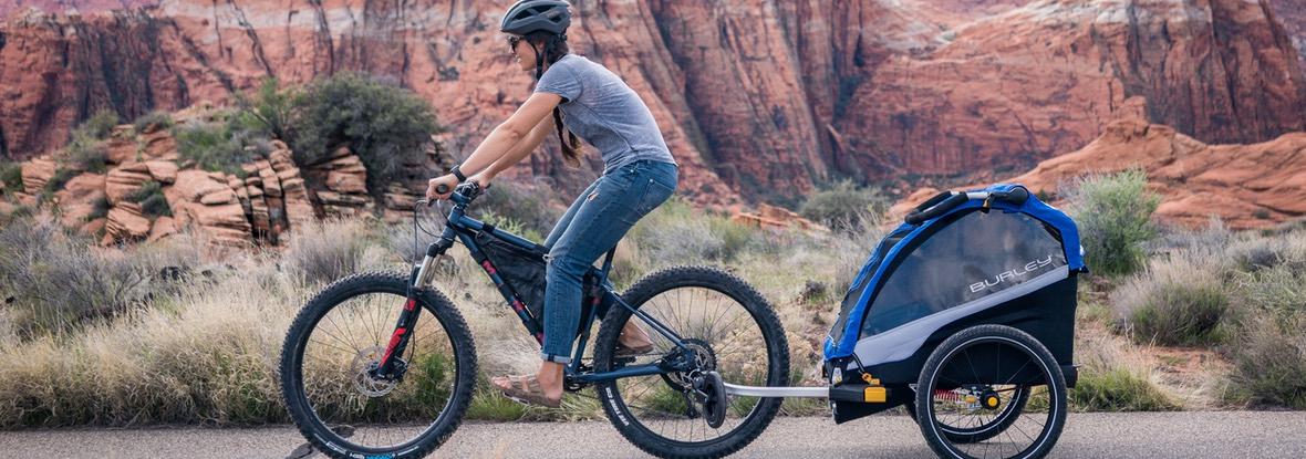 bezpečný vozík s odpružením - cyklo príves Burley Dlite Single